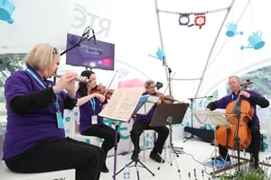 The Lyric fm quartet kept crowds entertained with beautiful tunes from the RTÉ stage