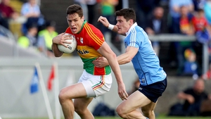 Carlow kept Dublin to just a three-point advantage at the break