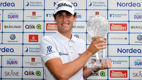 Renato Paratore wins Nordea Masters after late mistake from Chris Wood