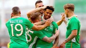 Cyrus Christie (2) has played 17 times for Ireland