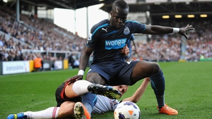 Cheick Tiote in action against Fulham in 2014