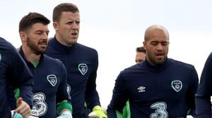 Ireland goalkeepers Keiren Westwood, Colin Doyle and Darren Randolph