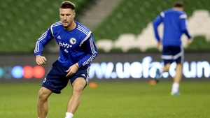 Sead Kolasinac arrives at the Emirates from Schalke