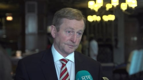Enda Kenny was speaking on a two-day visit to the United States