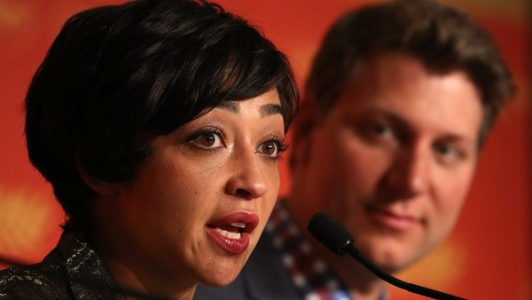 "Ruth Negga and Loving director Jeff Nichols at the Cannes Film Festival in May 2016 - ""I really don't think someone like Jeff Nichols would employ me just because I'm cheaper than someone else"""