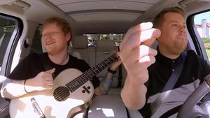 James Corden with Ed Sheeran