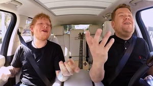 Ed Sheeran gives it socks on Carpool Karaoke