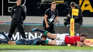 Payne played at centre for the Lions on this tour of New Zealand