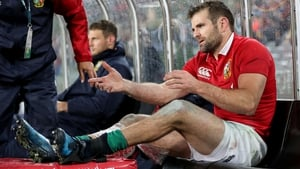 Jared Payne receives treatment after leaving the field with an injury