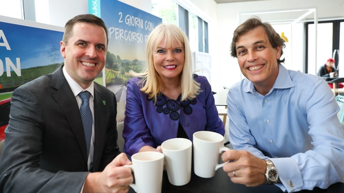 IDA CEO Martin Shanahan, Minister Mary Mitchell O'Connor and Smartbox CEO John Perkins