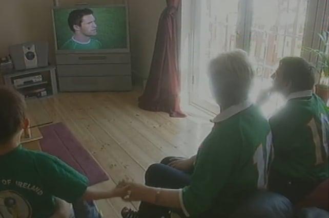 Robbie Keane's family 2002