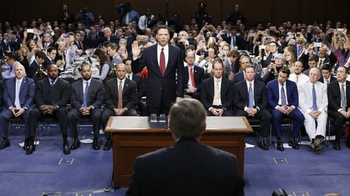 James Comey testified at the most eagerly anticipated US congressional hearing in years