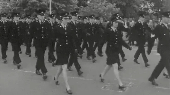 Gardaí march to Mount Argus for Mass to commemorate 50 years of An Garda Síochána (1972)