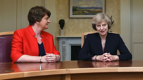 """The """"confidence and supply"""" deal was agreed in June between the DUP and the Conservative party"""