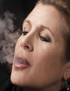 In the wings - Carrie Fisher talks Myles Dungan