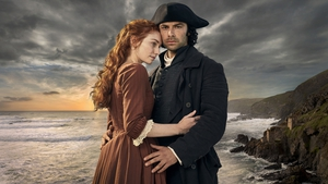 Aidan Turner and his Poldark co-star Eleanor Tomlinson