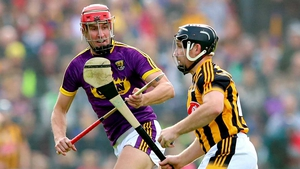 Wexford's Paul Morris and Richie Hogan of Kilkenny