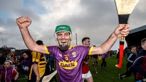Shaun Murphy celebrates after Wexford dfeeta Kilkenny in the Leinster SHC semi-final