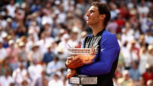 Rafa Nadal becomes the first man to reach double figures at a single slam