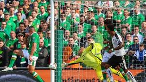 Austria took a first half lead at the Aviva Stadium