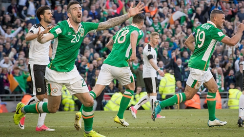 Shane Duffy reacts to his late goal being disallowed for a foul