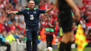 Martin O'Neill shows his displeasure with the match officials
