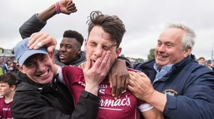 Galway's Sean Armstrong is swamped by supporters