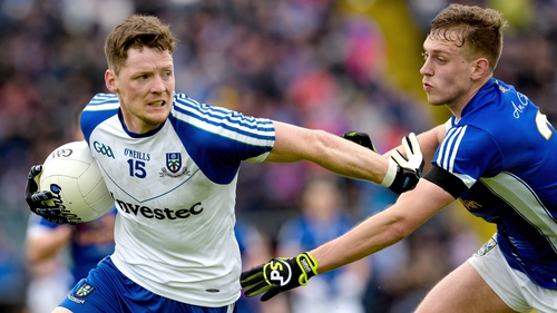 A late Conor McManus goal allowed Monaghan to squeeze past Cavan in Breffni Park yesterday