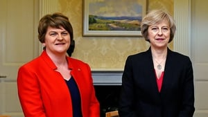 Arlene Foster's party is in negotiations with the Conservatives