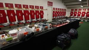 Inside the dressing room head of kick-off