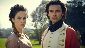 "Heida Reed as Elizabeth with Aidan Turner's Poldark - ""When it comes to Ross and Elizabeth, everybody blames the woman"""