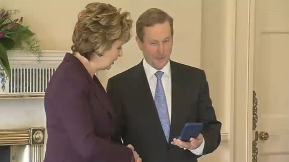 Enda Kenny and Mary McAleese (2011)
