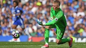 Jordan Pickford in action for Sunderland