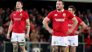 A good performance from Iain Henderson (L) was unable to help the Lions to victory
