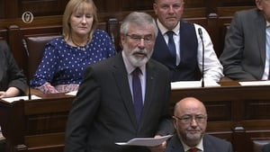 Gerry Adams in the Dáil this afternoon