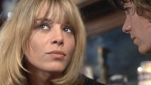 Anita Pallenberg opposite Mick Jagger in the cult classic movie Performance