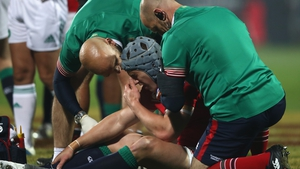 Jon Davies suffered a head injury in the 12-3 victory over the Crusaders