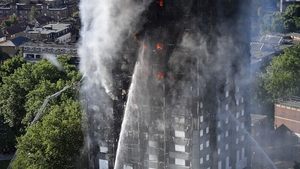 24-storey Grenfell Tower was engulfed in flames after fire broke out during the night on 14 June 2017