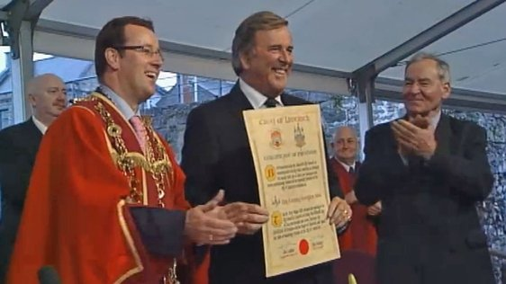 Terry Wogan receives freedom of Limerick (2007)