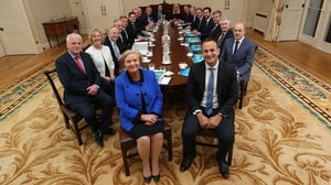 Cabinet sits down for its first meeting after receiving seals of office from President Higgins Áras an Uachtaráin
