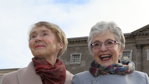 Dr Ann Louise Gilligan and Katherine Zappone pictured in March last year