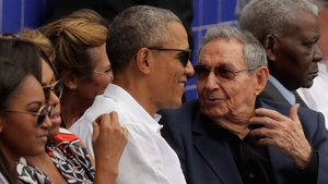 Barack Obama and Raoul Castro at a baseball game in Havana in 2016 during the first visit by a sitting US president to Cuba in 88 years
