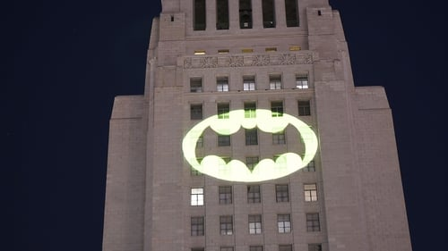Los Angeles sent up the Bat-Signal  to remember much-loved actor Adam West