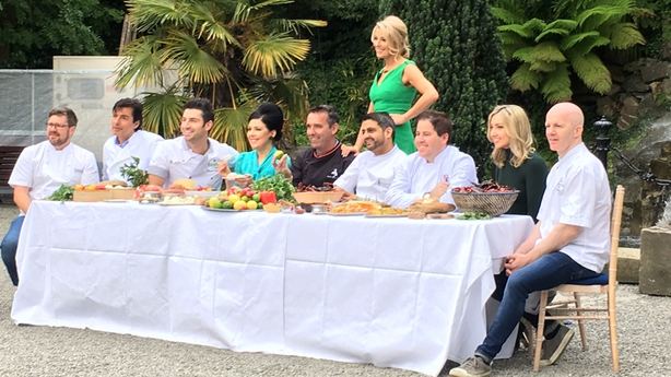 Avril Bannerton with a number of well-known chefs at Taste of Dublin