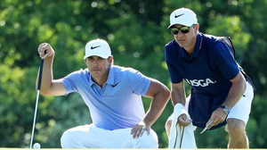 Brooks Koepka is joint leader at the US Open