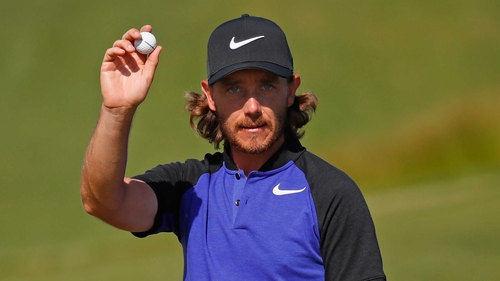 Tommy Fleetwood is in a share for the lead at the half-way stage
