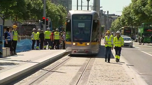 The Luas has finally been connected across Dublin but there are new traffic issues.