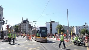 Luas works will cause disruption to traffic in Dublin for up to eight days.