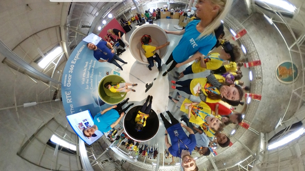 360 view from the RTÉ stand at Coolest Project thanks to Samsung