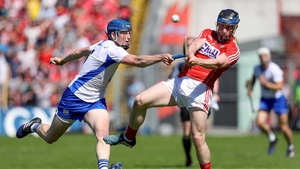 Conor Lehane and Austin Gleeson  contest the ball
